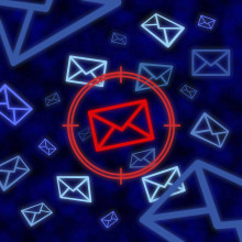 Email icon targeted
